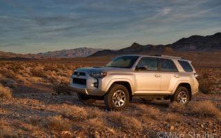 Toyota 4Runner at sunset in Nevada by MikesRoadTrip.com