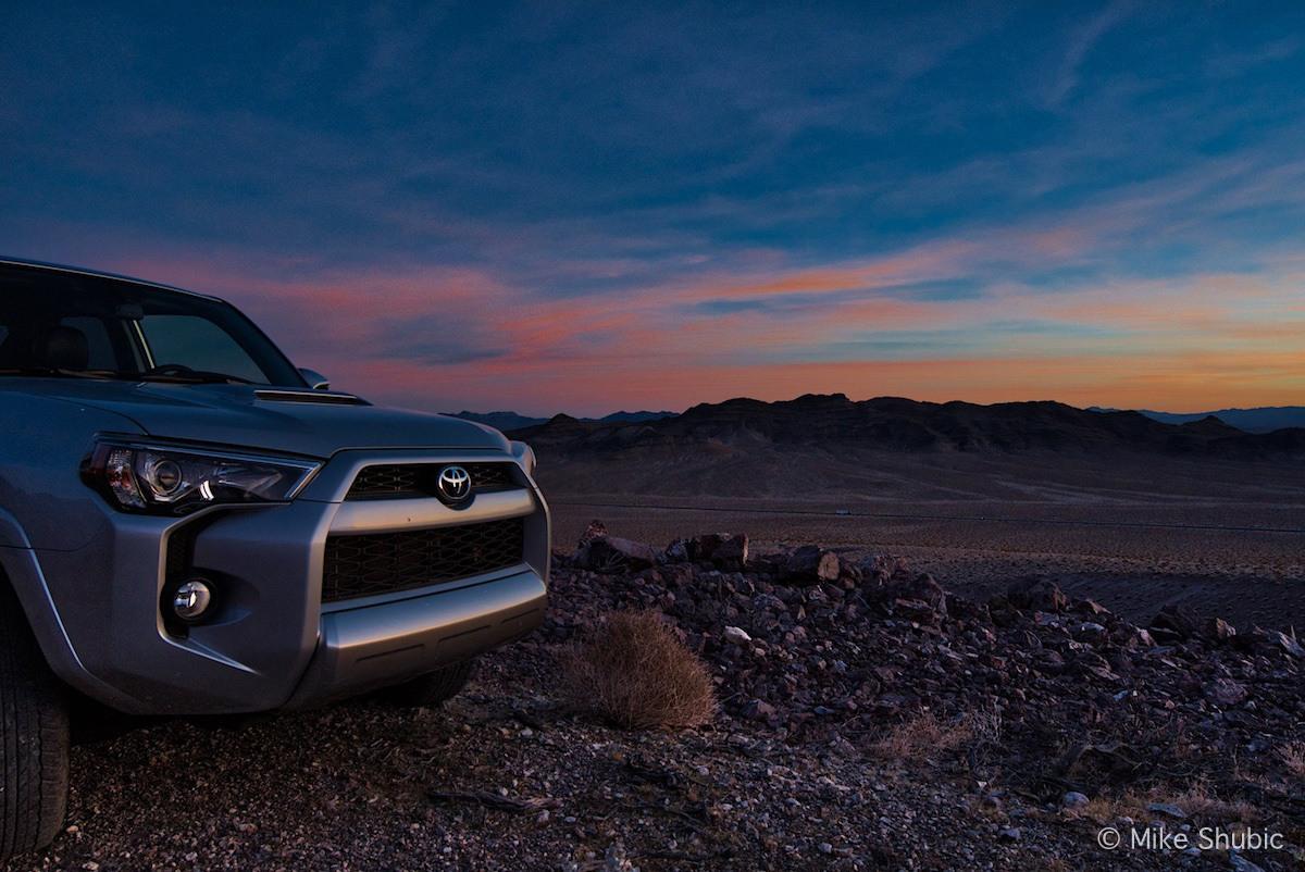 Toyota 4Runner at sunset by MikesRoadTrip.com