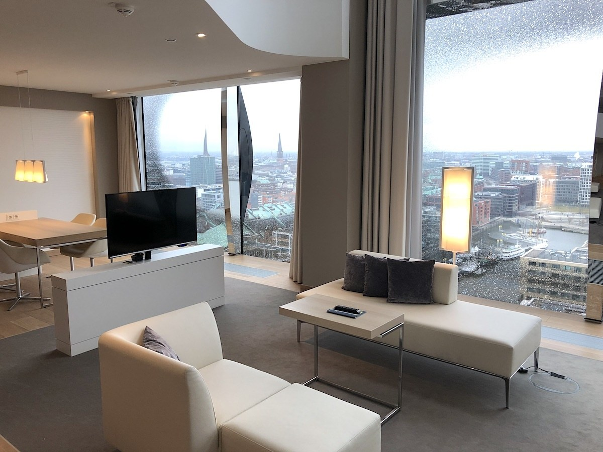 Suite at Westin Hamburg Hotel in Germany by MikesRoadTrip.com