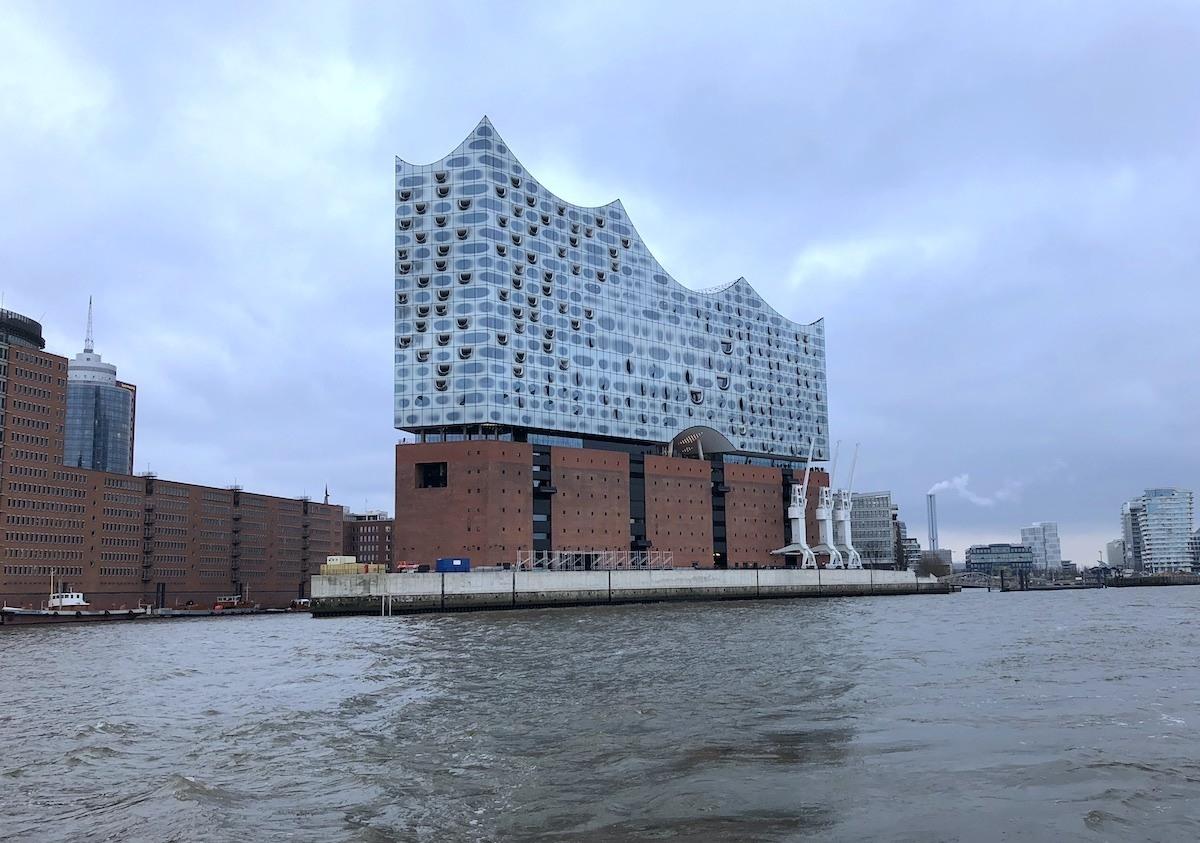 Elbphilharmonie Hamburg Germany from the water by MikesRoadTrip.com