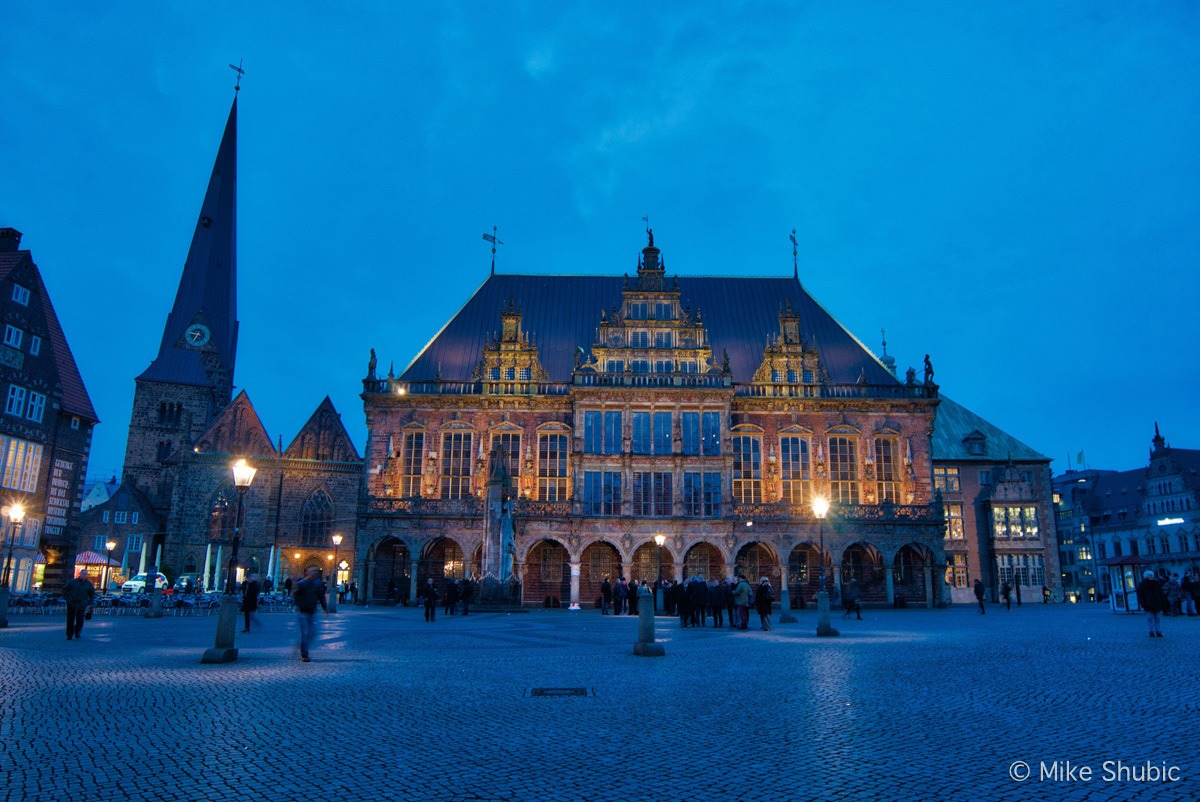 Bremen Germany town square by MikesRoadTrip.com