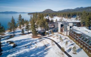 South Lake Tahoe Edgewood resort aerial photo by MikesRoadTrip