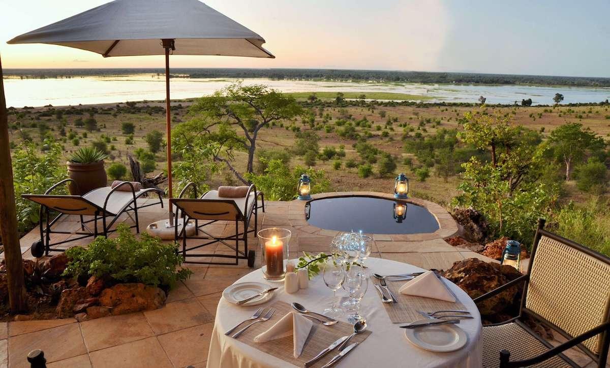 Ngoma Safari Lodge suite with plung pool