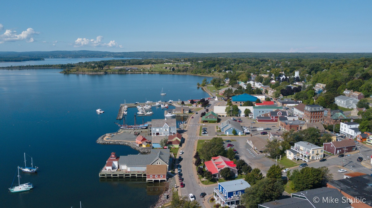 Pictou downtown aerial by MikesRoadTrip.com