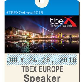Speaking at TBEX Europe in Ostrava, Czech Republic