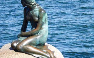 The Little Mermaid in Copenhagen Denmark
