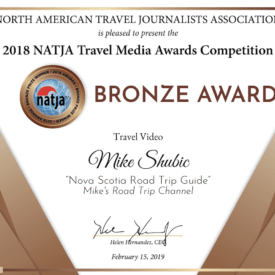 NATJA Bronze winner for the Travel Video category